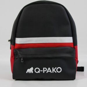 Leather Backpack red